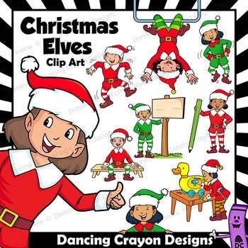Christmas Elves.Christmas Elf Clip Art Elves With Signs