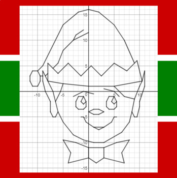 Christmas Elf - A Coordinate Graphing Activity
