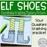 Christmas Math Elf Shoes Coordinate Graphing Ordered Pairs Mystery Picture