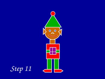 Christmas Elf Drawing using shapes