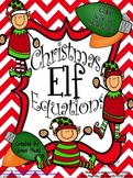 Christmas Math Activities ~ Christmas Elf Equations ~ Color By The Code Puzzles