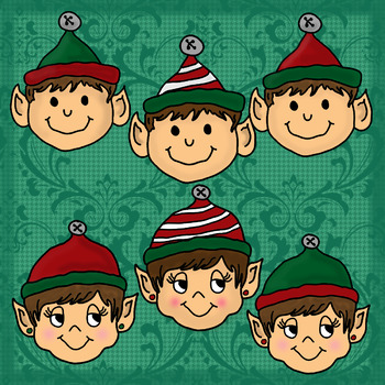 Christmas Elf Faces