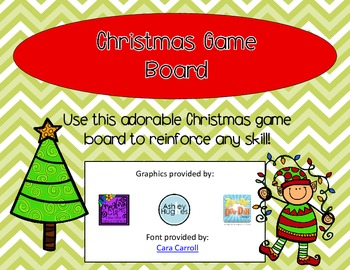Christmas Elf Game Board with Blackline