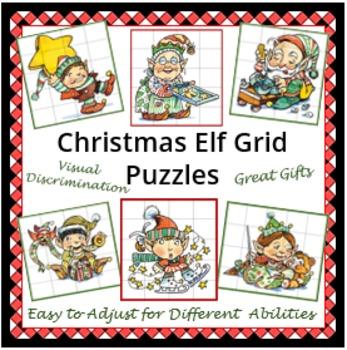 Christmas Elf Grid Puzzles