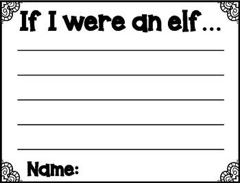 Christmas Elf Job Application Writing Craftivity