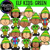 Christmas Elf Kids (Green): Christmas Clipart
