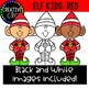 Christmas Elf Kids (Red): Christmas Clipart