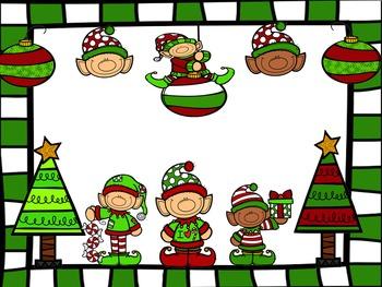 Christmas Elf Kooshball Game for SMARTboard