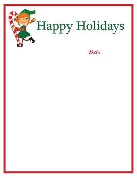 Christmas Elf Letter Head