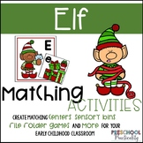Christmas Elf Matching Activities:  Letters, Shapes, Colors, and More