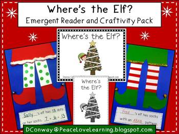 Christmas Elf Math Craftivity and Emergent Reader Pack