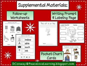 Christmas Elf Math Craftivity and Emergent Reader Pack