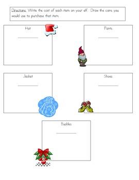 Christmas Elf Money Glyph Task