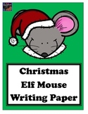 Christmas Elf Mouse Writing Paper (20 pages total)