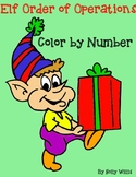 Christmas Elf Order of Operations Color by Number
