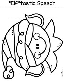 Christmas Elf Paper Lantern Speech Therapy Craft {articulation craftivity}