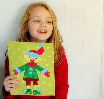 Christmas Elf Printable Craftivity Template