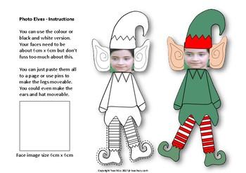 Christmas Elf Self Activity for Photos