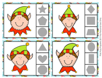 Christmas Elf Shapes Clip Cards