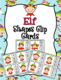 Christmas Elf Shapes Clip Cards