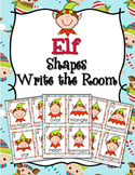Christmas Elf Shapes Write the Room