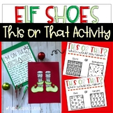 Christmas Elf Shoes This or That Activity