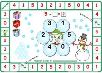 Christmas Elf Splat Number Bonds