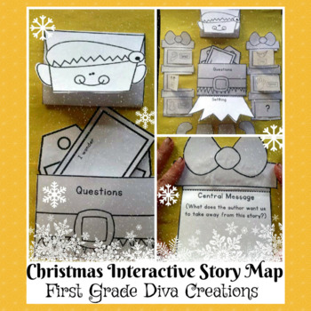 Christmas Activities-Interactive Elf Themed Story Map