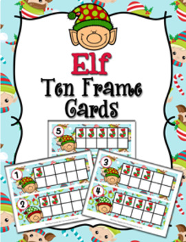 Christmas Elf Ten Frame Cards