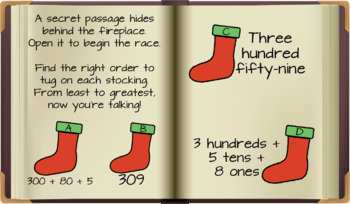 Christmas Elf Themed Digital Escape Room with Second Grade Math Content