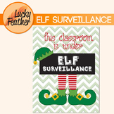 Christmas Elf - This Classroom is Under Surveillance Poster & Elf Clipart
