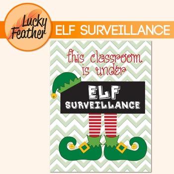 Christmas Elf - This Classroom is Under Surveillance Poste