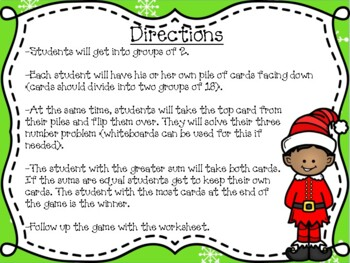 Christmas Elf Wars-Adding Three Numbers