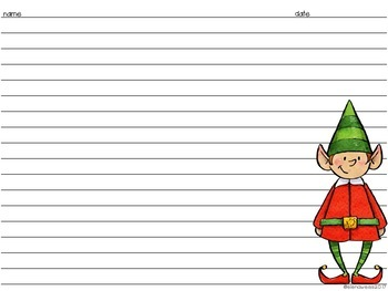 All About My Elf Writing Activity