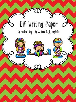 Christmas Elf Writing Paper