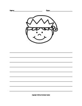 Christmas Elf Writing Paper Set