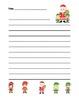 """Christmas Elf"" Writing Sheets –  Common Core (color & black line)"