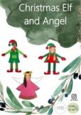 Christmas Elf and Angel Yourself Template