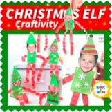 Christmas Elf Craft Template for Kindergarten Geometry