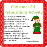 Christmas Elf prepositions activity