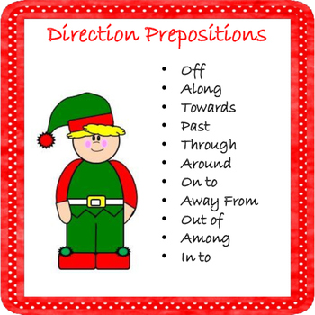 Christmas Elf prepositions activity