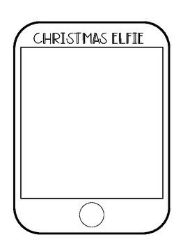 Christmas Elfie Writing Activity