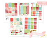 Christmas Elfs Printable Planner Weekly kit Stickers fits Erin Condren