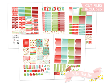 Christmas Elfs Printable Planner Weekly kit Stickers fits