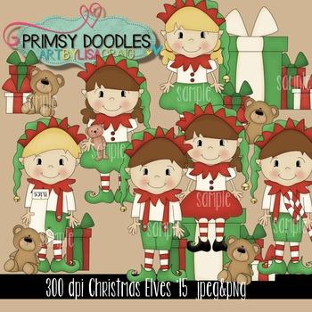 Christmas Elves '15 Clipart