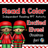 Christmas Elves Read and Color PowerPoint