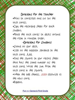 Christmas Elves Addition: Doubles and Near Doubles