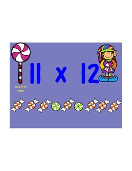 Christmas Elves Candy Multiplication Koosh Game