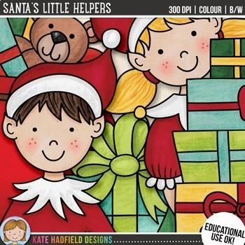 "Christmas Elf Clip Art: ""Santa's Little Helpers"""