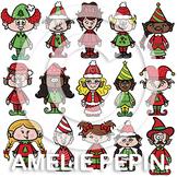 Christmas Elves Clip Art (74)